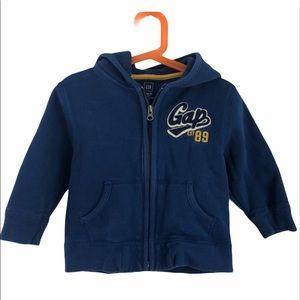 Gap Blue Toddler Boy Hooded Zip Up Sweatshirt 3T